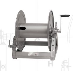 Hannay Reels C1530-17-18 Manual Hand Crank Rewind Storage Reels for Cable, Hose, Rope & Wire