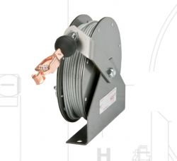 Hannay Reels GR75-75 Static Grounding Automatic Spring Rewind Cable Reels C/w 75ft of Clear PCC Cable And Clamp