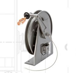 Hannay Reels HGR50-0 Static Grounding Automatic Spring Rewind Cable Reels (Supplied without Cable & Clamp)