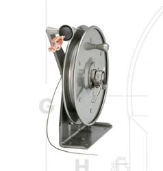 Hannay Reels MHGR50-50 Static Grounding Manually Hand Crank Rewind Cable Reels C/w 50ft of Clear PCC Cable And Clamp