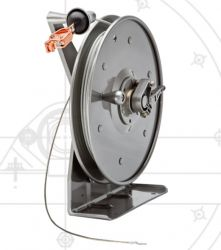 Hannay Reels MHGR100-100 Static Grounding Manually Hand Crank Rewind Cable Reels C/w 100ft of Clear PCC Cable And Clamp