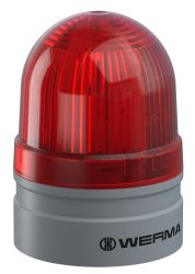 WERMA EvoSIGNAL Mini 260.110.74 Beacon Light - Permanent / Blinking, Red Colour (Additional Mounting Adapter Needed)