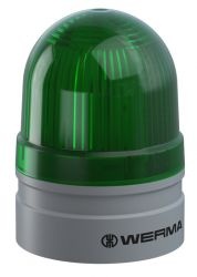 WERMA EvoSIGNAL Mini 260.210.74 Beacon Light - Permanent / Blinking, Green Colour (Additional Mounting Adapter Needed)