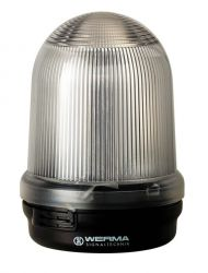 WERMA 826 Series 826.410.55 Monitored Permanent Beacon Light - 24V DC, Clear Colour