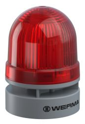 WERMA EvoSignal 460.110.75 Red Twin Light Beacon with Sounder, 24V AC/DC (Additional Mounting Adapter Needed)