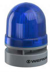 WERMA EvoSignal 460.510.74 Blue Twin Light Beacon with Sounder, 12V AC/DC (Additional Mounting Adapter Needed)