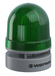 WERMA EvoSignal 460.210.60 Green Twin Light Beacon with Sounder, 115V, 230V AC (Additional Mounting Adapter Needed)