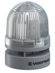 WERMA EvoSignal 460.420.74 White Twin Flash Beacon with Sounder, 12V AC/DC (Additional Mounting Adapter Needed)