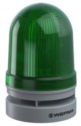 WERMA EvoSignal 461.210.70, Green Twin Light Beacon with Sounder, 12/24V AC/DC (Additional Mounting Adapter Needed)