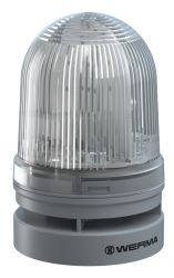 WERMA EvoSignal 461.420.70, White Twin Flash Beacon with Sounder, 12/24V AC/DC (Additional Mounting Adapter Needed)