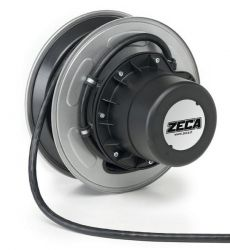 ZECA 1421 IP65 Automatic Retractable Spring Rewind Grounding Cable Reels C/w 20mtr of 1 Core 25mm2 H05V-F Cable