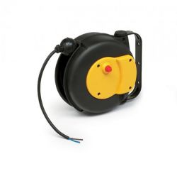 ZECA 9004 Automatic Spring Rewind Grounding Cable Reels C/w 5mtr of 3 Core 1.5mm2 H05V-K PVC Cable