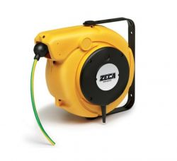 ZECA 5834/XF Automatic Spring Rewind Grounding Cable Reels C/w 12.5mtr of 1 Core 6mm2 H05V-K PVC Cable