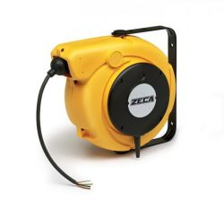ZECA 5830/XF Automatic Retractable Spring Rewind Cable Reels C/w 11mtr of 2 Core 1.5mm2 H05VV-F Cable
