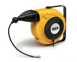 ZECA 5876/XL Automatic Retractable Spring Rewind Cable Reels C/w 5.5mtr of 4 Core 2.5mm2 H05VV-F Cable