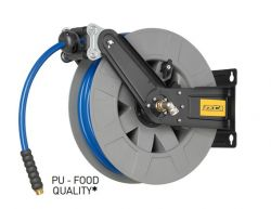 ZECA 8432 Retractable Food Quality Water Hose Reel C/w 12mtr of 12.5mm (1/2