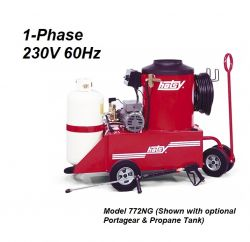 HOTSY 772 1.109-037.0 Hot Water Pressure Washer - 1-Phase 230V 60Hz Electric Driven, NG Fired, 3 GPM, 1500 PSI, 3 HP