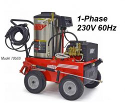 HOTSY 795SS 1.109-039.0 Hot Water Pressure Washer - 1-Phase 230V 60Hz Electric Driven, Oil Fired, 3.5 GPM, 2000 PSI, 5 HP