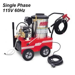 HOTSY Model 555SS 1.109-033.0 Hot Water Pressure Washer - 115V 1-Phase 60Hz Electric Driven, Oil Fired, 2.2 GPM, 1300 PSI, 2 HP