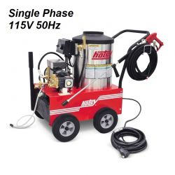 HOTSY Model 555SS 1.109-033.0-50Hz Hot Water Pressure Washer - 115V 1-Phase 60Hz Electric Driven, Oil Fired, 2.2 GPM, 1300 PSI, 2 HP