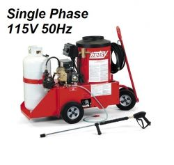HOTSY Model 558 1.109-610.0-50Hz Hot Water Pressure Washer - 115V 1-Phase 50Hz Electric Driven, LP Fired, 2.2 GPM, 1300 PSI, 2 HP