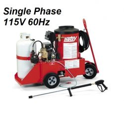 HOTSY Model 558 1.109-610.0 Hot Water Pressure Washer - 115V 1-Phase 60Hz Electric Driven, LP Fired, 2.2 GPM, 1300 PSI, 2 HP