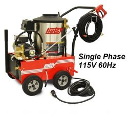 HOTSY Model 560SS 1.109-034.0 Hot Water Pressure Washer - 115V 1-Phase 60Hz Electric Driven, Oil Fired, 2.1 GPM, 1500 PSI, 2.3 HP