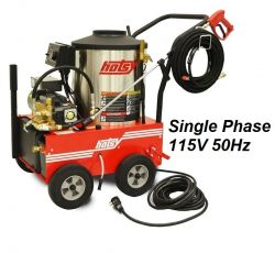 HOTSY Model 560SS 1.109-034.0-50Hz Hot Water Pressure Washer - 115V 1-Phase 50Hz Electric Driven, Oil Fired, 2.1 GPM, 1500 PSI, 2.3 HP